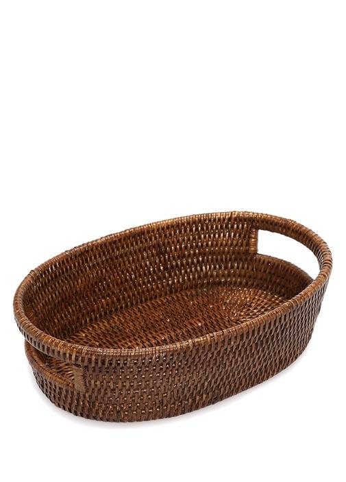 Kahverengi Hasır Sepet