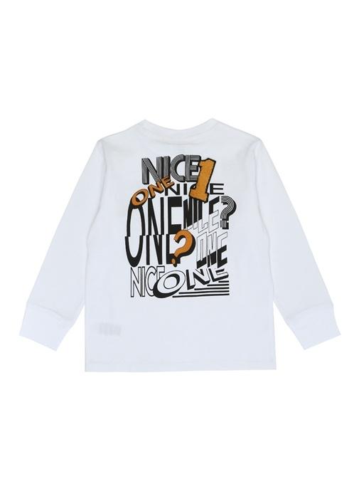 Crumble Beyaz Baskılı Erkek Çocuk T-shirt