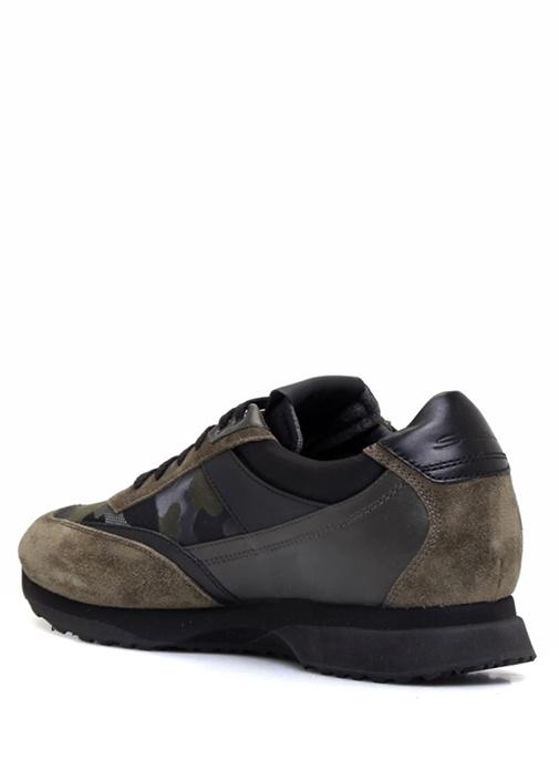 Kamuflaj Desenli Kalın Tabanlı Erkek Süet Sneaker