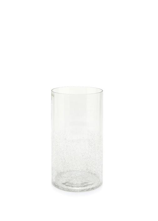 Artic Silindir Formlu Şeffaf Cam Vazo