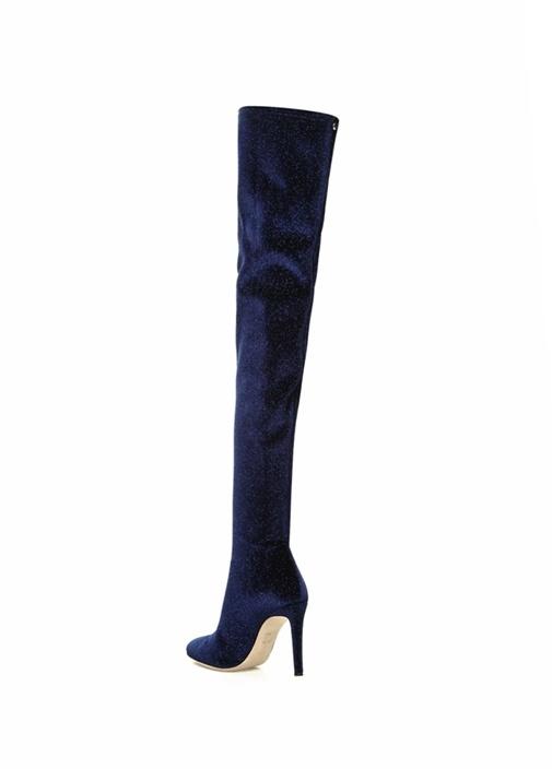 Dena Lacivert Simli Kadın Çizme