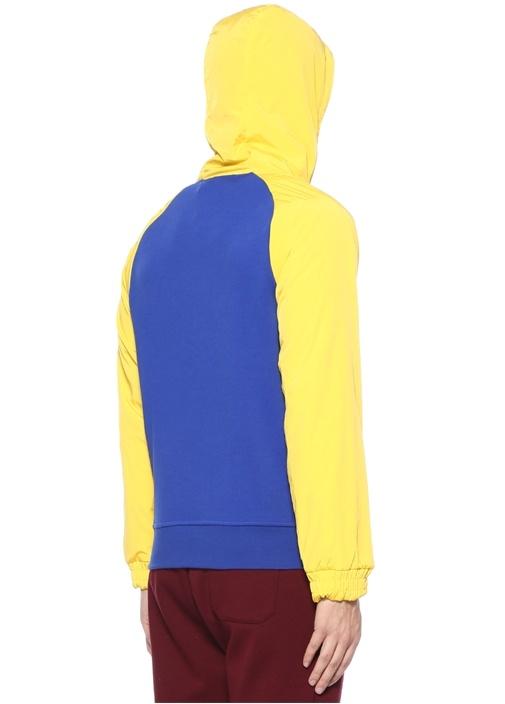 Hi Tech Lacivert Kapüşonlu ColorblockedSweatshirt