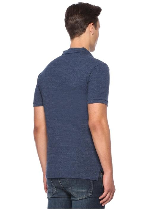Slim Fit Lacivert Polo Yaka T-shirt