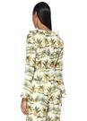 Limonada Beyaz Fırfırlı Anvelop Bluz