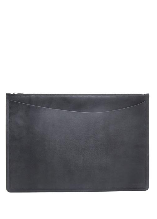 Siyah 15 Inch Erkek Deri Tablet Kılıfı