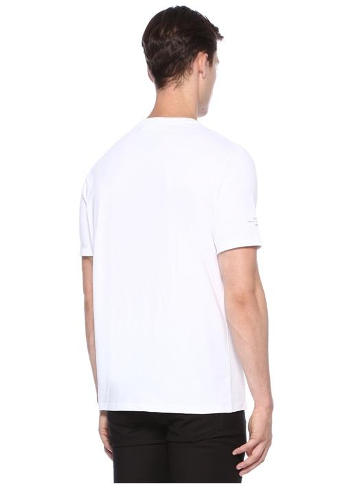 Loose Regular Fit Beyaz Baskılı Basic T-shirt