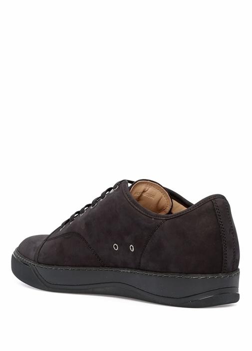 Siyah Logolu Erkek Nubuk Sneaker