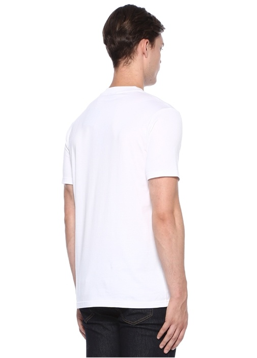 Slim Fit Beyaz Basic T-shirt