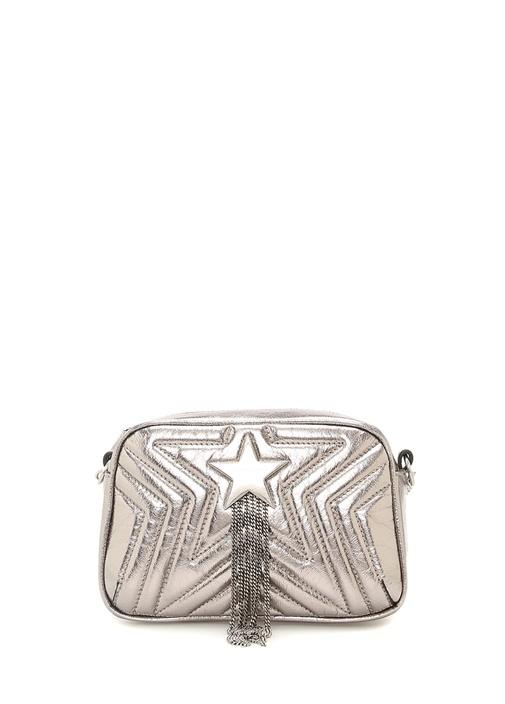 Stella Star Mini Silver Zincir Detaylı Kadın Çanta