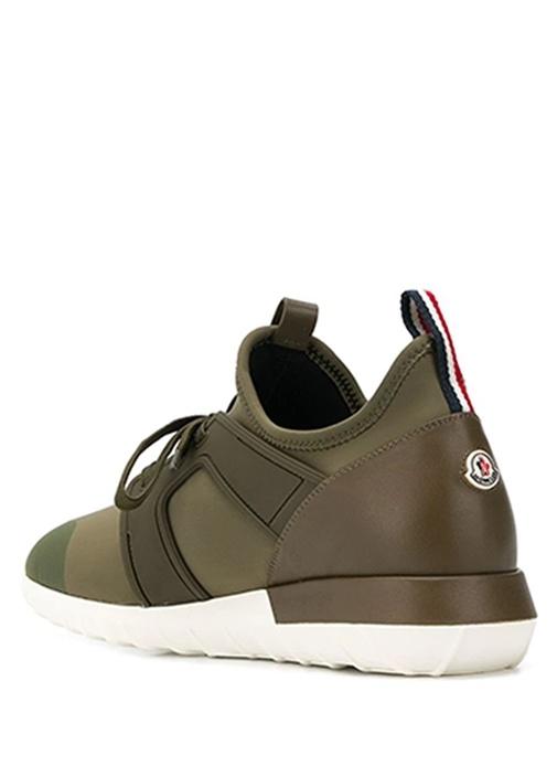 Emilien Haki Logolu Erkek Deri Sneaker