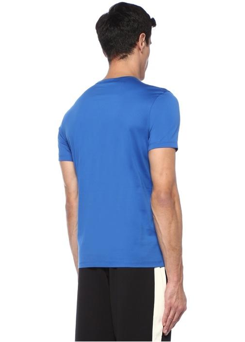 Genius No2 Mavi Logo Motifli T-shirt