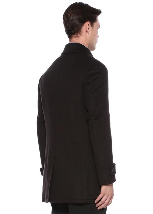 Drop 7 Kahverengi Yaka Detaylı Yün Palto