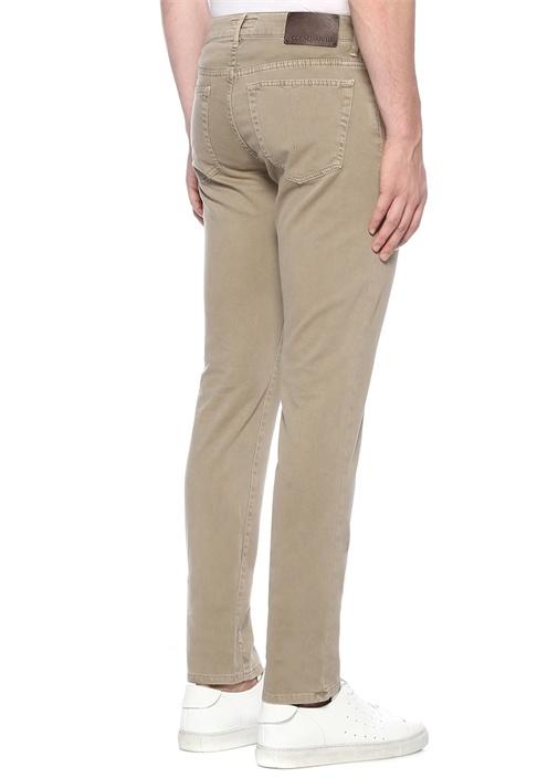 Krem Normal Bel Boru Paça Pantolon