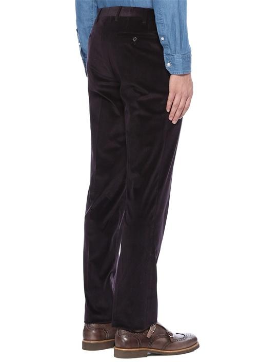 Drop 7 Bordo Normal Bel Çizgi Dokulu Pantolon