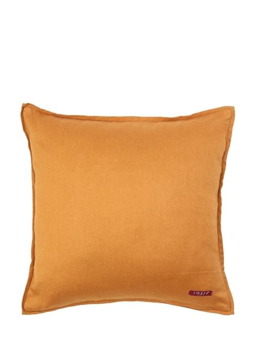 Tarotpiq Safran Nakışlı 45x45 cm Dekoratif Yastık