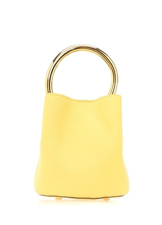 Marni Kadın Sarı Gold Kulplu Deri Çanta Ürün Resmi