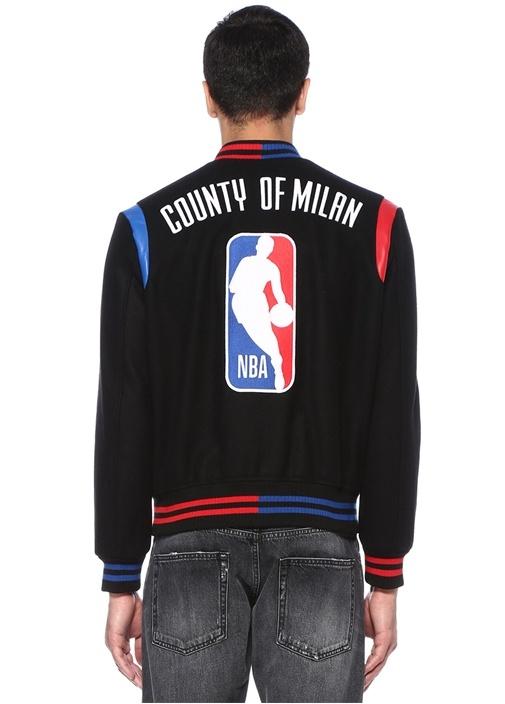 NBA Varsity Siyah Dik Yaka Jakarlı Mont