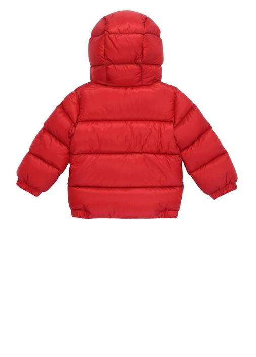 New Macaire Kırmızı Kapüşonlu Erkek Bebek Puf Mont