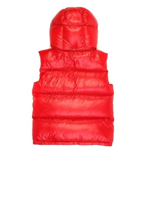 Freville Kırmızı Kapüşonlu Erkek Çocuk Puff Yelek