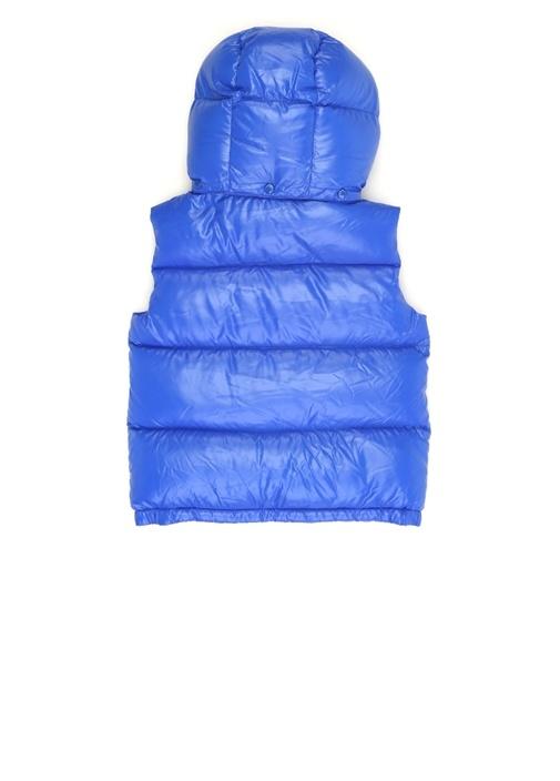 Freville Mavi Kapüşonlu Erkek Çocuk Puff Yelek