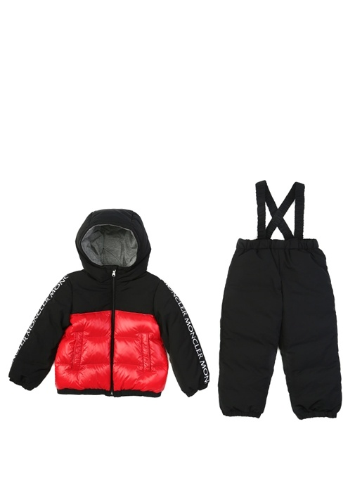 Siyah Kırmızı Erkek Çocuk Kayak Tulumu