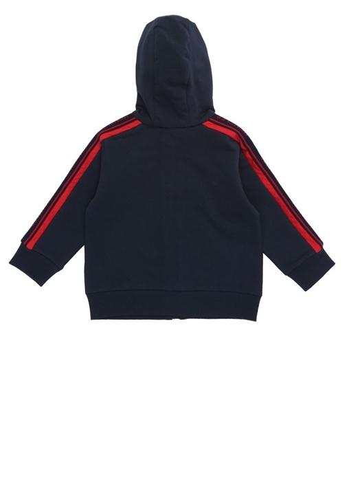 Lacivert Kapüşonlu Erkek Bebek Sweatshirt