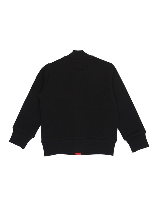 Siyah Dik Yaka Garnili Erkek Çocuk Sweatshirt