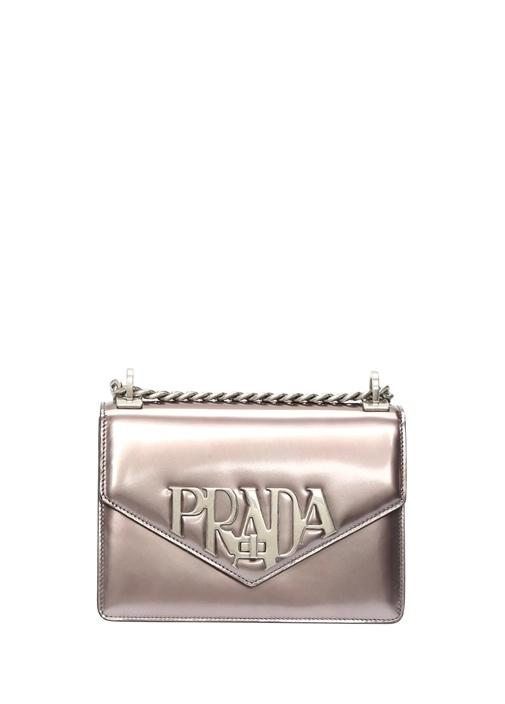 Silver Logolu Kadın Deri Omuz Çantası