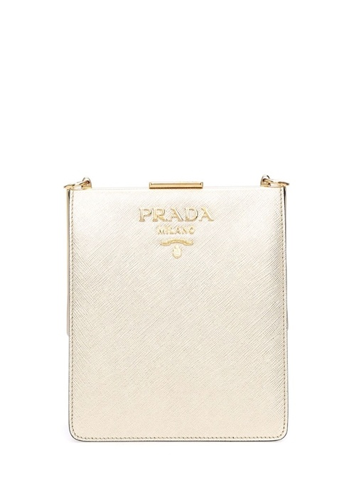 Gold Logolu Kadın Deri Omuz Çantası