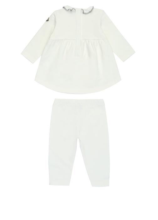 Beyaz Yıldız Nakışlı Kız Bebek Eşofman Takımı