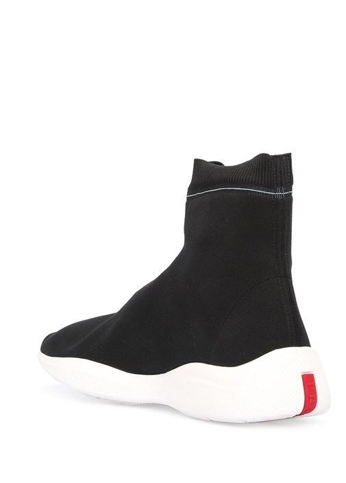 Siyah Çorap Formlu Kadın Sneaker