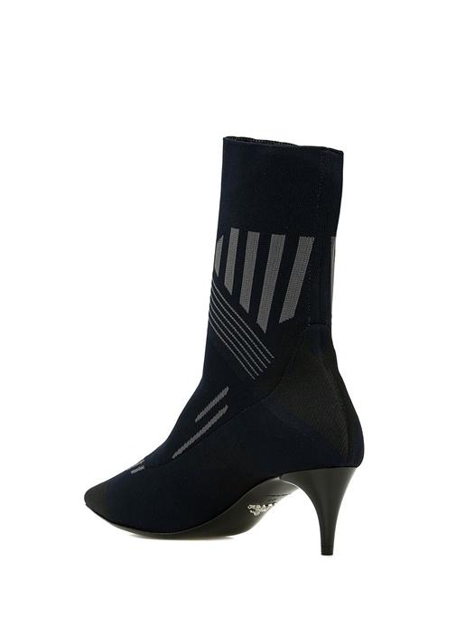 Lacivert Gri Çorap Formlu Kadın Bot