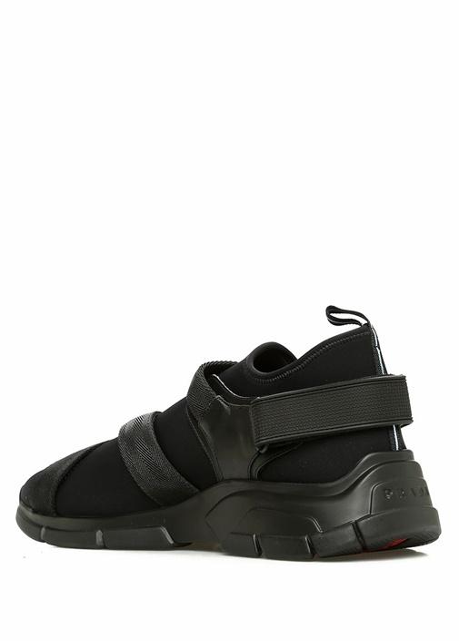 Siyah Logolu Klips Detaylı Erkek Sneaker