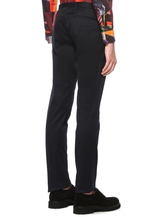 Lacivert Formal Fit Normal Bel Pantolon