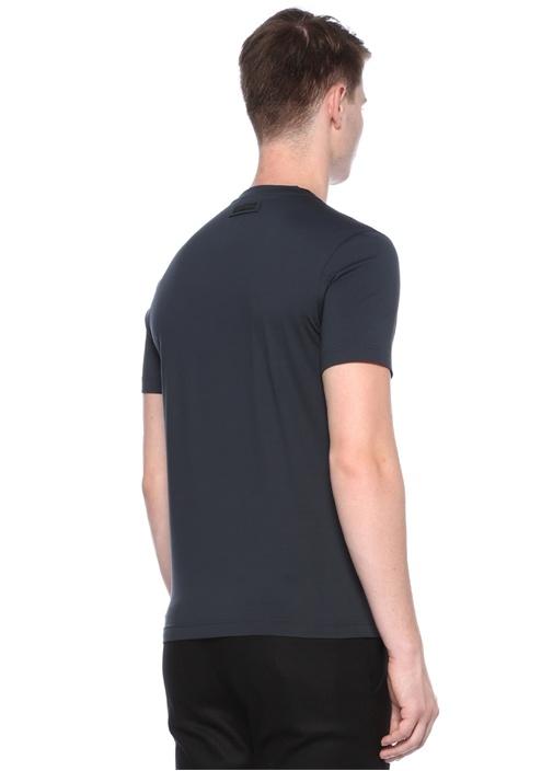 Yeşil V Yaka Basic T-shirt