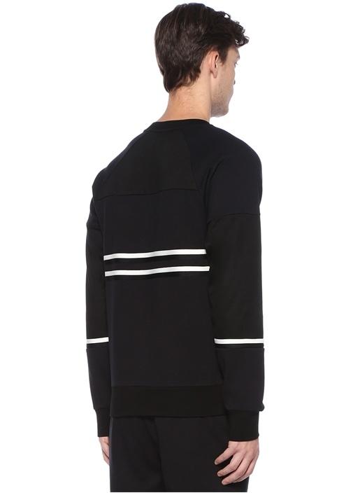 Siyah Şerit Detaylı Sweatshirt