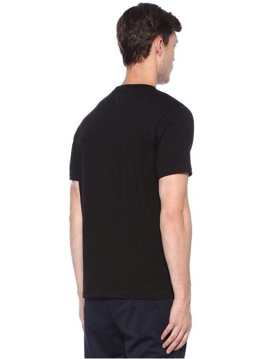 Siyah Nakış Detaylı Basic T-shirt