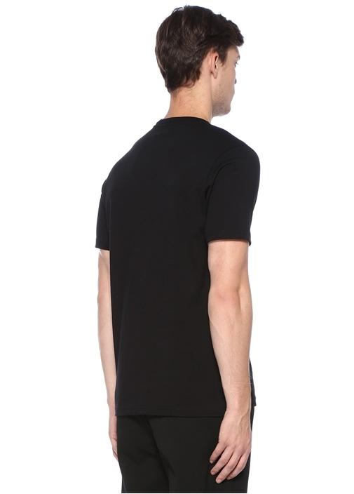 Regular Fit Siyah Baskılı Basic T-shirt