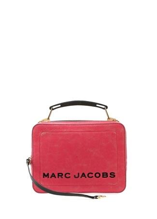 d567b32fbaaa46 Marc Jacobs Kadın Pembe Logolu Dokulu Deri Çanta EU