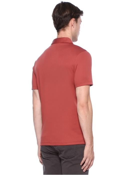 Kiremit Logolu Polo Yaka T-shirt