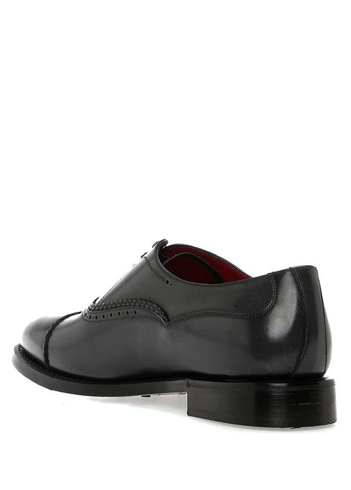Lacivert Delik Detaylı Erkek Deri Ayakkabı