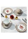Floral Haki 2li Çay Fincanı ve Kek Tabağı Seti