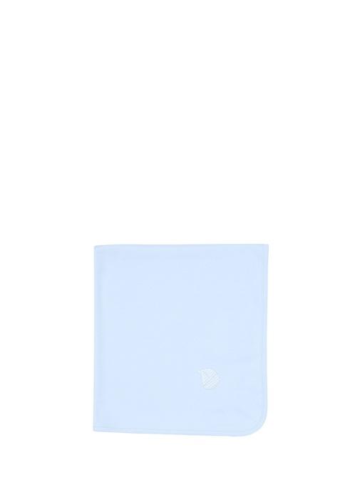 Mavi Nakışlı Erkek Bebek Battaniye