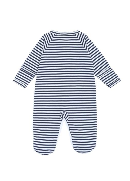 Skysail Lacivert Çizgi Desenli Erkek Bebek Tulum