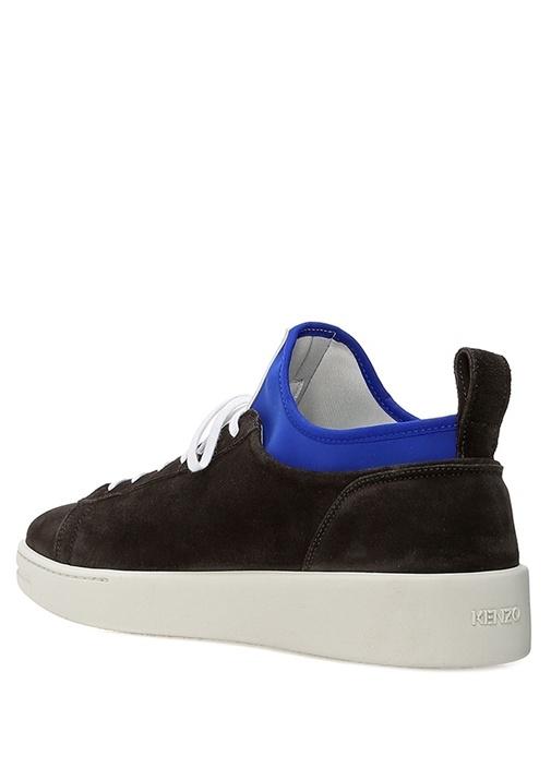 Siyah Mavi Çorap Detaylı Erkek Nubuk Sneaker