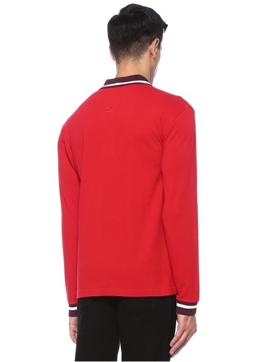 Kırmızı Logo Patch'li Pike Dokulu Sweatshirt