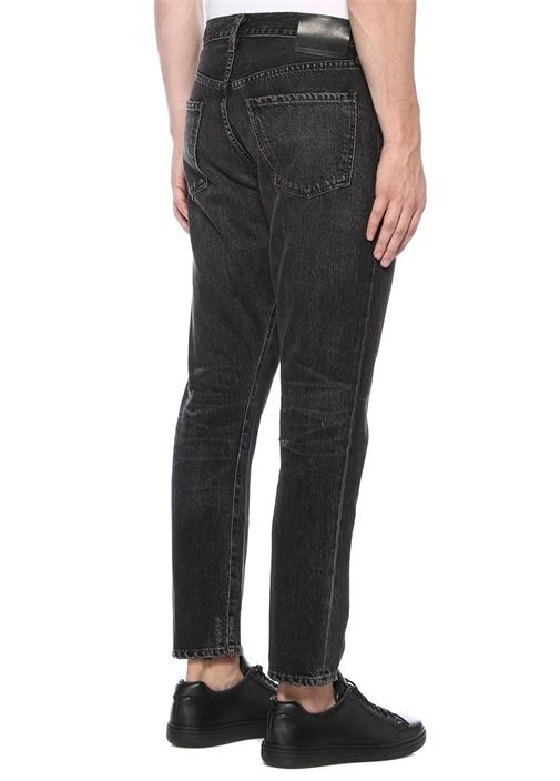 Rowan Crop Relaxed Slim Fit Gri Jean Pantolon
