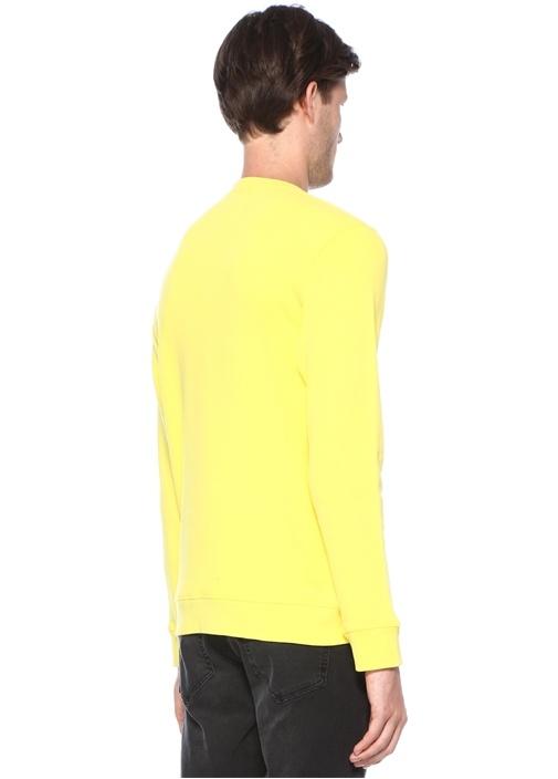 Sarı Yazı Baskılı Sweatshirt