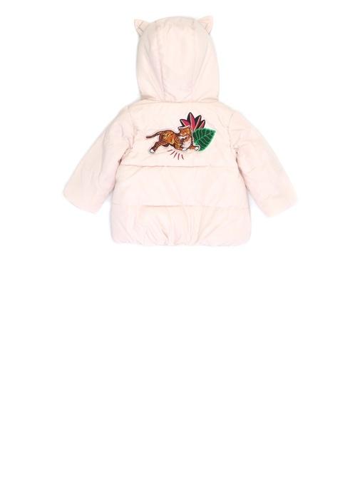Fantastic Pembe Logolu Kapüşonlu Kız Bebek Mont