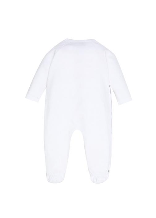 Beyaz Logolu Erkek Bebek Çantalı Tulum Seti